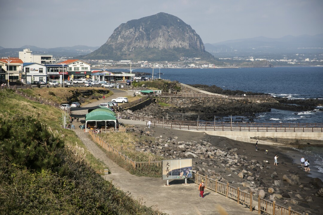 A coastal view of Jeju Island, South Korea.