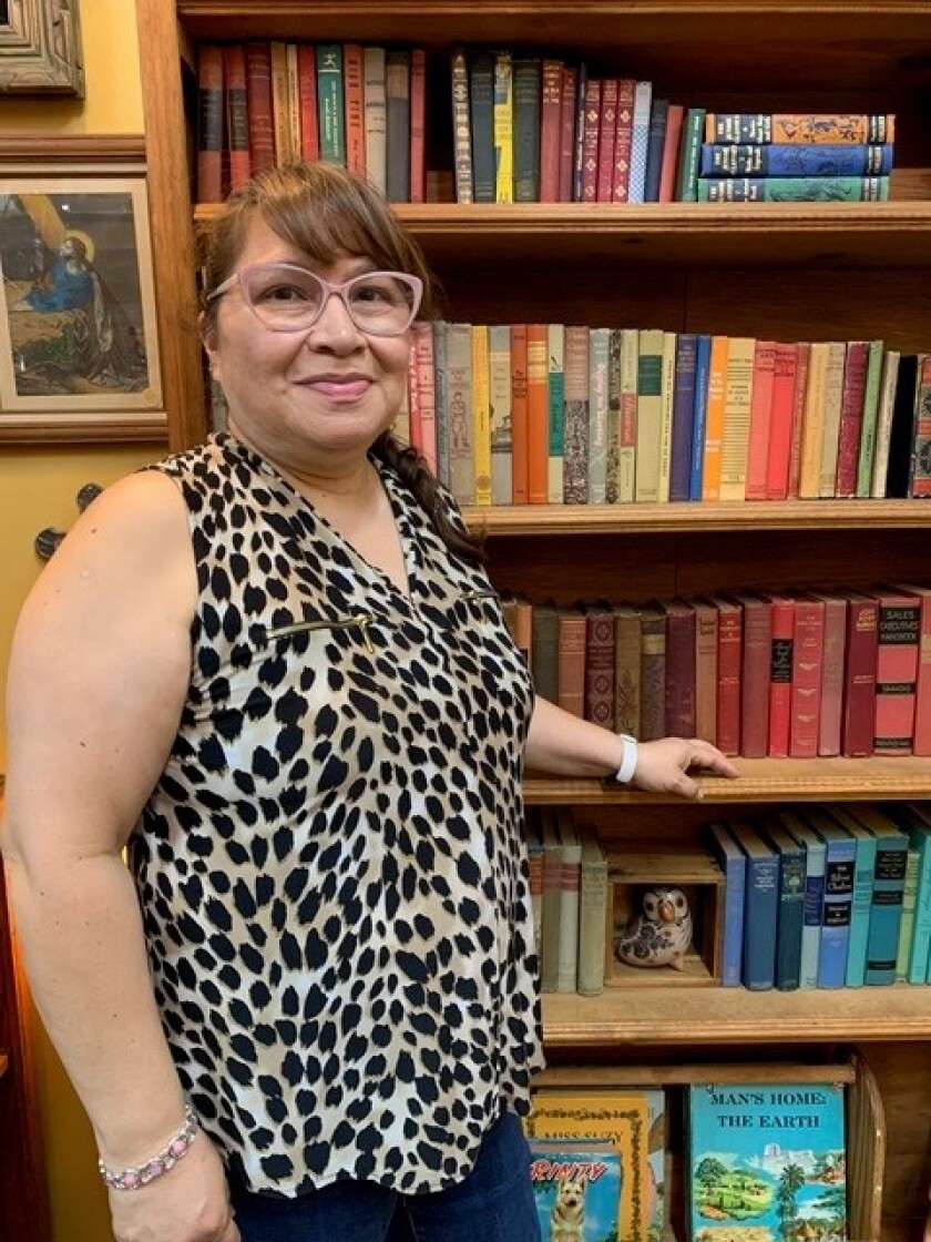 Vintage books for readers of all ages are very popular right now, according to Laura Lyman, co-owner of Ramona Antique Fair.
