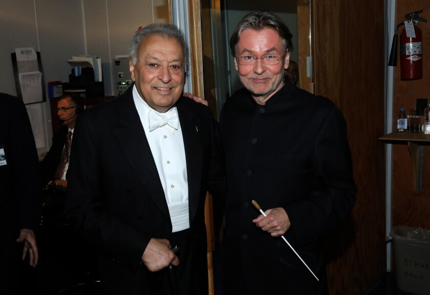 Zubin Mehta and Esa-Pekka Salonen at the L.A. Phil centennial celebration