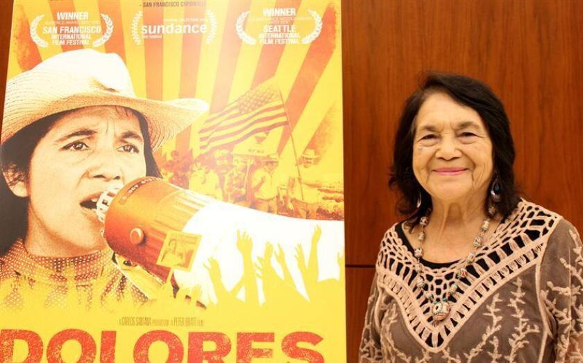 """La reconocida activista de origen mexicano Dolores Huerta cree que, como mismo en 1986 se logró una amnistía para casi 2 millones de campesinos inmigrantes, que entonces obtuvieron su residencia, ahora también se podría lograr una medida justa para los """"soñadores"""" y """"tepesianos"""". EFE/ARCHIVO"""