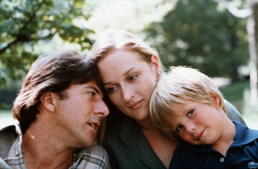 """Dustin Hoffman, left, Meryl Streep and Justin Henry in """"Kramer Vs. Kramer"""" (1979)."""
