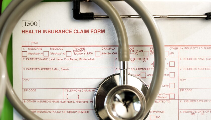 Health Insurance Claim Form -- Shallow Depth of Field