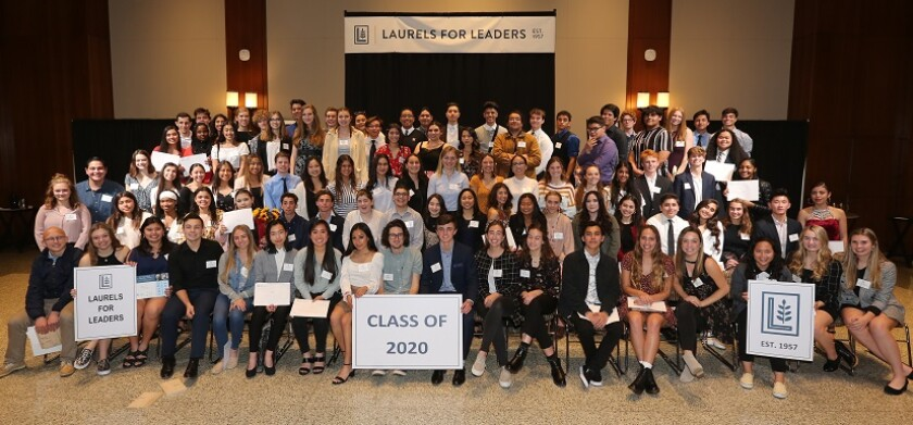 Nearly 100 high school Associated Student Body presidents were honored recently for their time and efforts at the 63rd annual Washington-Lincoln Laurels for Leaders luncheon.