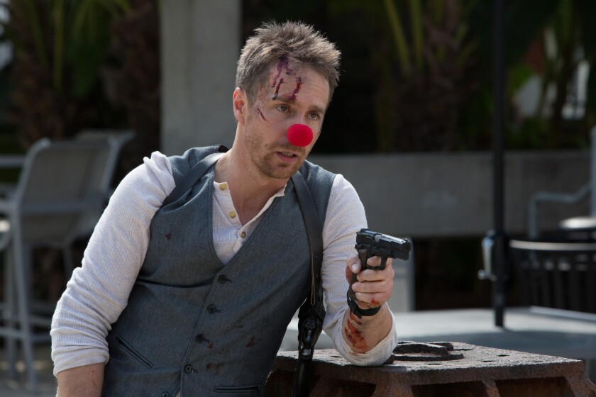 "Sam Rockwell in the action comedy ""Mr. Right."""
