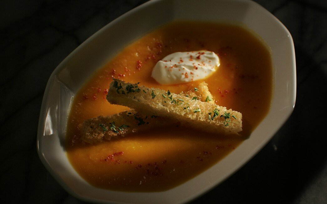 Kabocha veloute soup