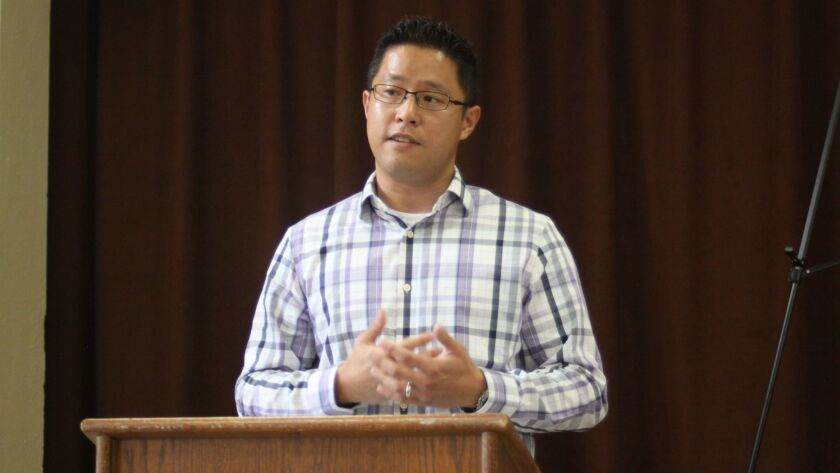 Civil engineer Jong Choi speaks about the City's plans to reinstate the 100 Coast Blvd. staircase.