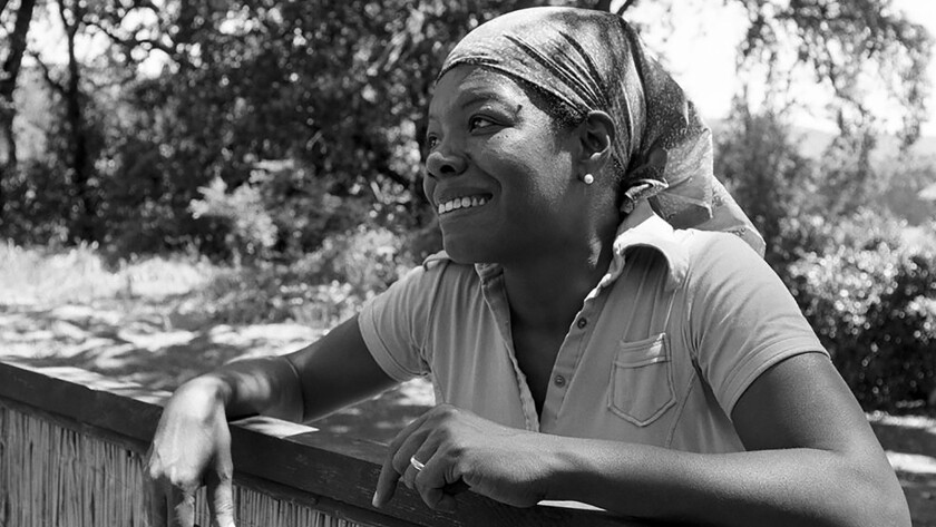 "Maya Angelou, pictured in the documentary ""Maya Angleou: And Still I Rise."""