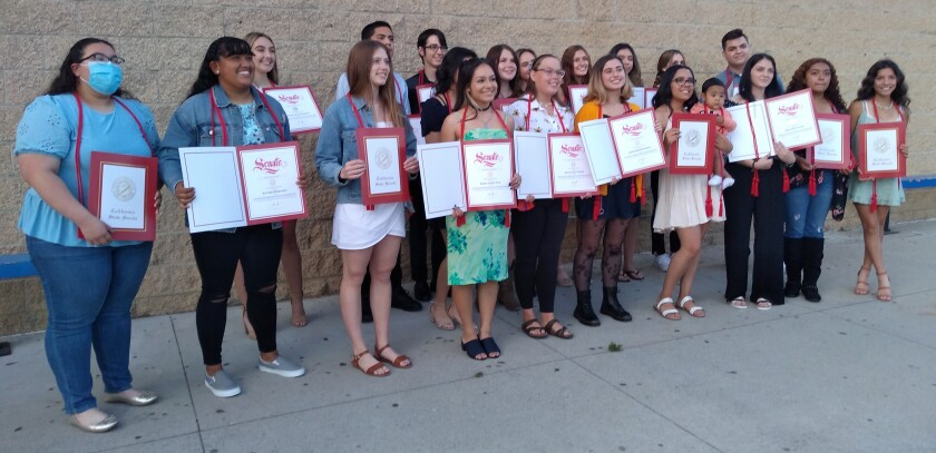California State Seal of Biliteracy honors were awarded to students who speak two languages.