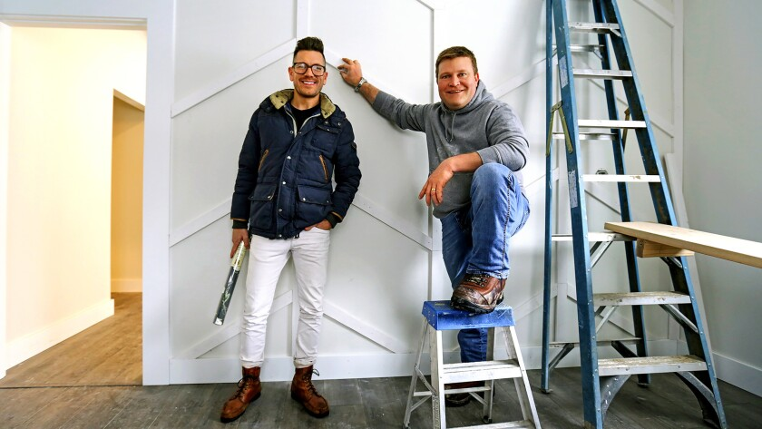 Contractor-design duo Clint Robertson, right, and Luke Caldwell revamp homes in the Idaho capital on their TV series.