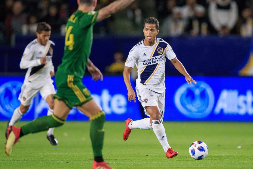 2018 Season: LA Galaxy vs. Portland Timbers at StubHub Center on April 1, 2018.