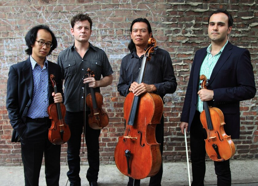 Flux Quartet: (from left) Tom Chiu, Conrad Harris, Felix Fan and Max Mandel