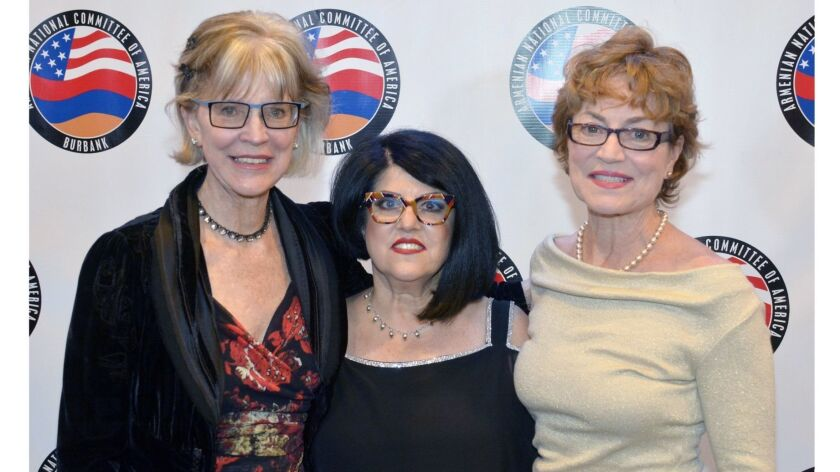 Armenian National Committee of Burbank Chairwoman Silva Kechichian, center, welcomed Mayor Emily Gab