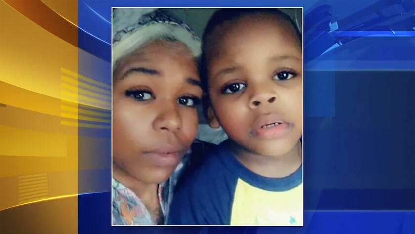 25 yr old daughter Alita Johnson and her 3 yr old son Haashim Johnson who along with Alita's father 64 yr. old Horace McCouellem were killed in a fire in the row house where they were renters.