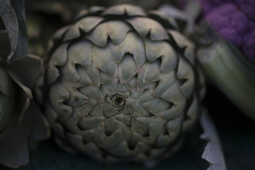 Artichoke at the Santa Monica farmers market
