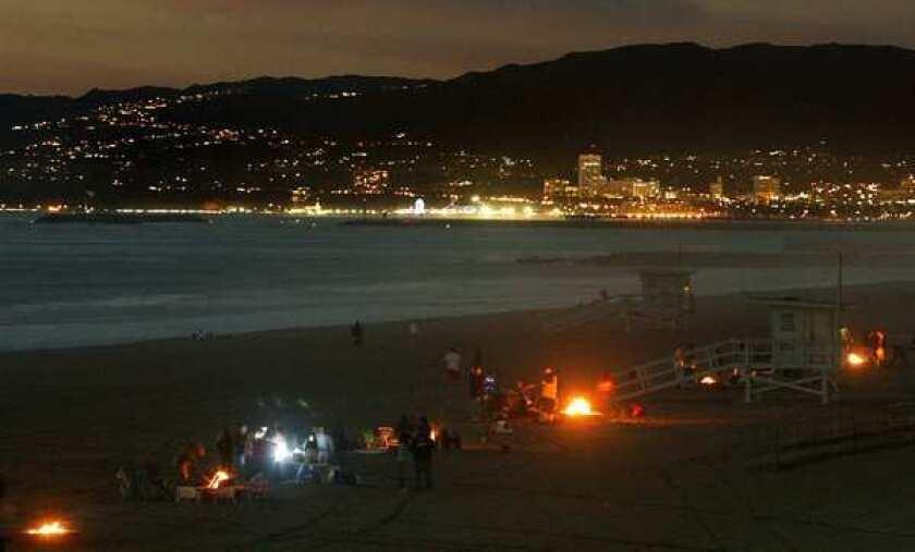 Bonfire at Dockweiler State Beach