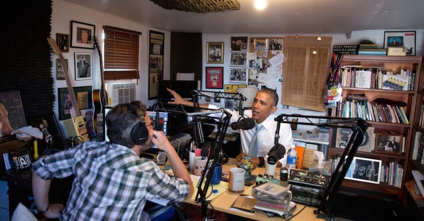 Podcast host Marc Maron interviews President Obama in Highland Park.