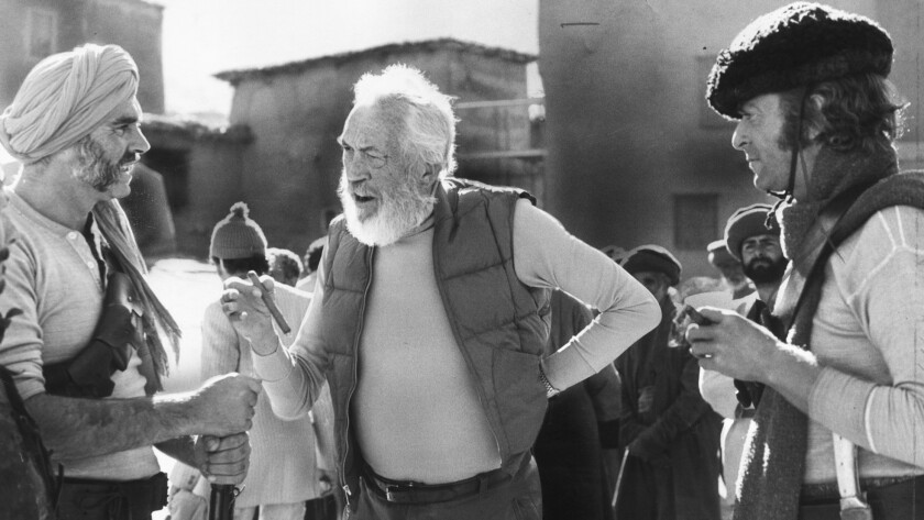 """Sean Connery, left, and John Huston on the set of """"The Man Who Would Be King."""""""