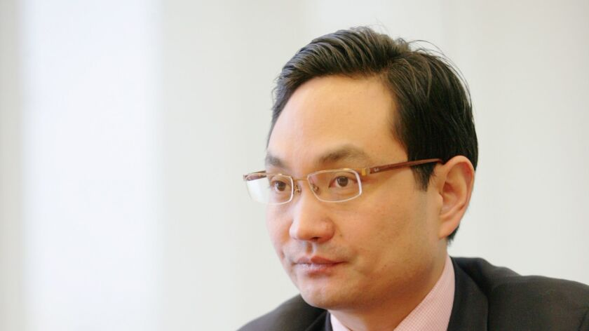 Lei Jie, former chairman of Founder Securities Co., Ltd., during an interview in Beijing in December