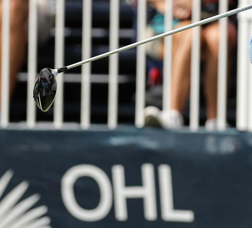 Un golpe de bola en el torneo de golf Mayakoba OHL Classic celebrado en Playa del Carmen, Riviera Maya del estado de Quintana Roo (México). EFE/Archivo