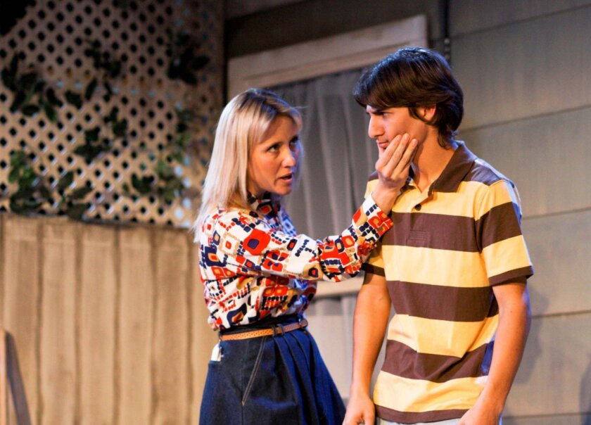 """Jennifer Eve Thorn (pictured with Jordan Zimmer in the 2011 Moxie Theatre production of Marisa Wegrzyn's """"Ten Cent Night"""") is directing the company's staging of Wegrzyn's """"Hickorydickory."""""""