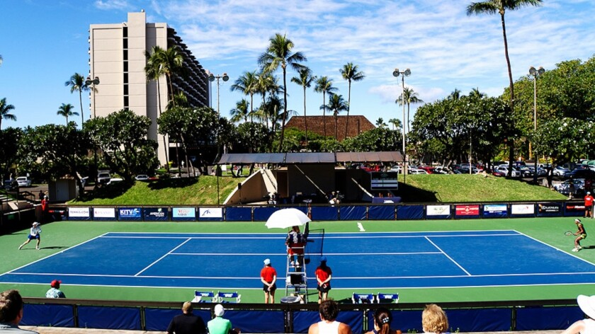 The Royal Lahaina Tennis Ranch features 11 championship courts and PlaySight technology, which allows guests to improve their game.