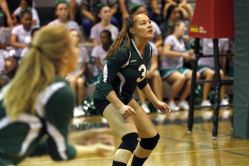 Vanessa Howard plays during a win against Mount Miguel last Thursday at Helix High.