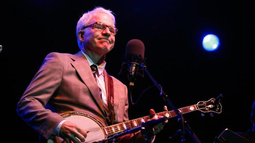 Steve Martin will play banjo with his Grammy Award-winning bluegrass band, The Steep Canyon Rangers,