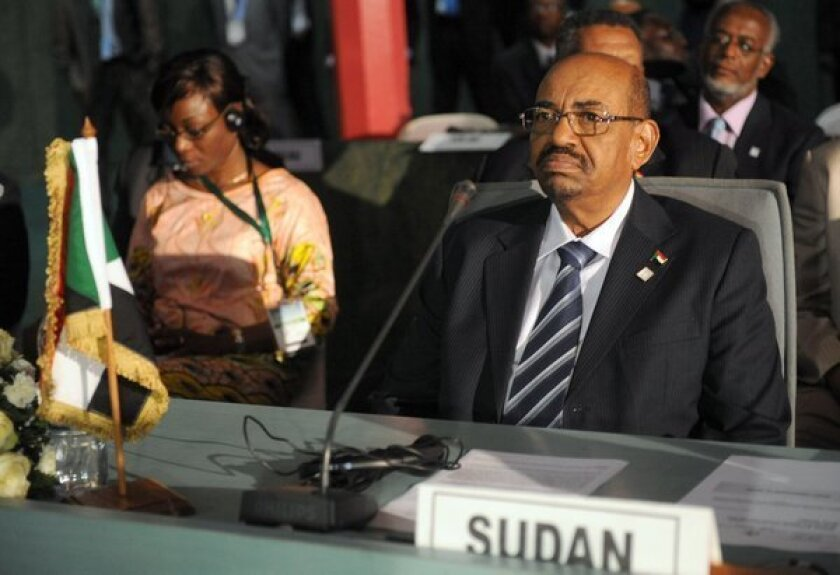 Sudanese President Omar Hassan Ahmed Bashir at the African Union Summit on Monday in Abuja, Nigeria.