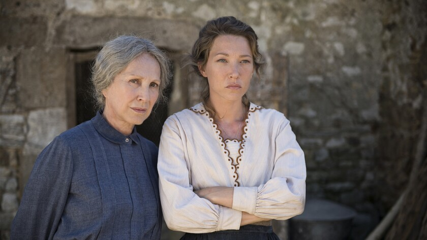 """Nathalie Baye and Laura Smet in the movie """"The Guardians."""" Music Box Films"""