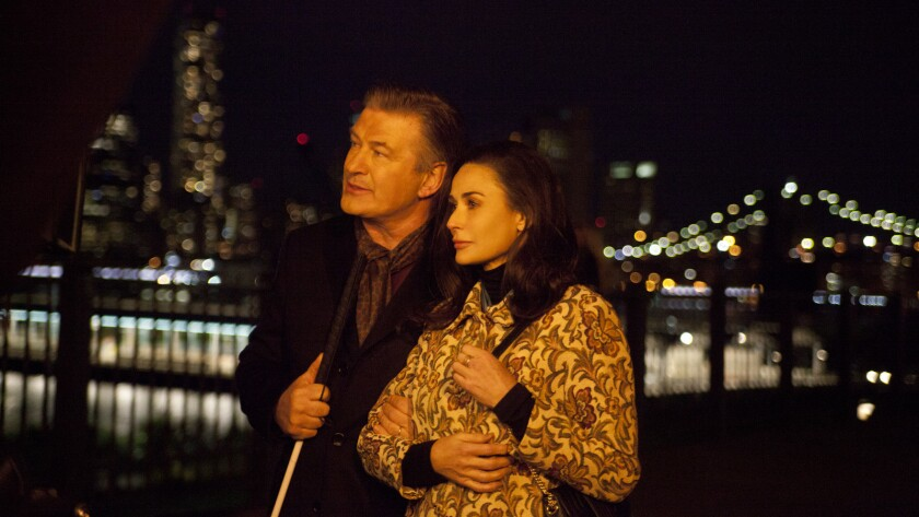"Alec Baldwin and Demi Moore in the movie ""Blind."""