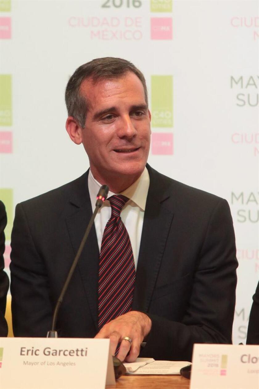 El alcalde de Los Ángeles, Eric Garcetti. EFE/Archivo