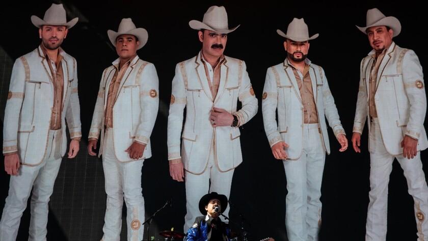 INDIO, CALIF. - APRIL 19: Los Tucanes de Tijuana performs on stage during Weekend 2 of the Coachella