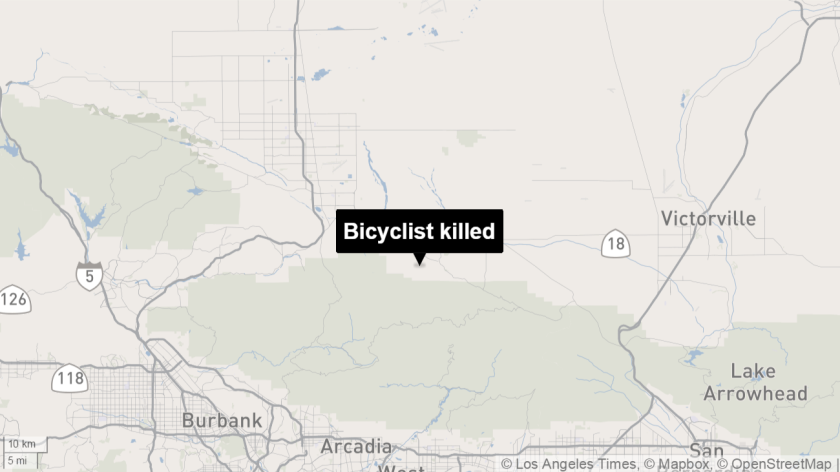 No details have been released about the bicyclist killed near Palmdale.