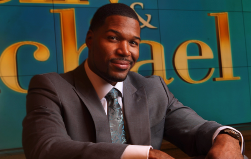 """Michael Strahan, on the set of """"Live,"""" received an offer he couldn't refuse for his Bel-Air property."""