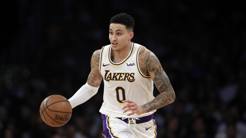 Lakers forward Kyle Kuzma injured his foot during training camp with Team USA this summer.