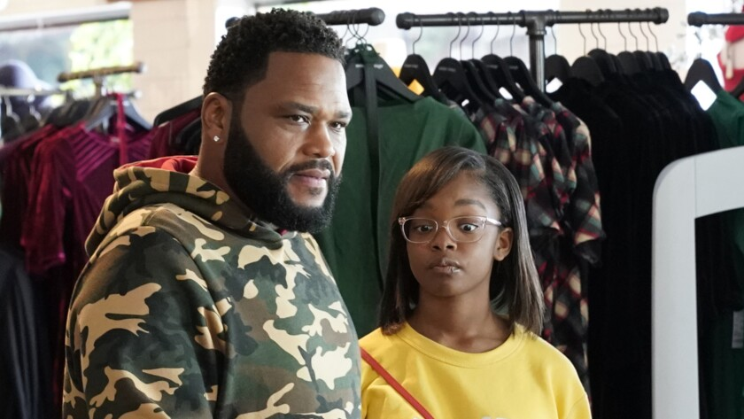 "Anthony Anderson and Marsai Martin in ""black-ish"" on ABC."