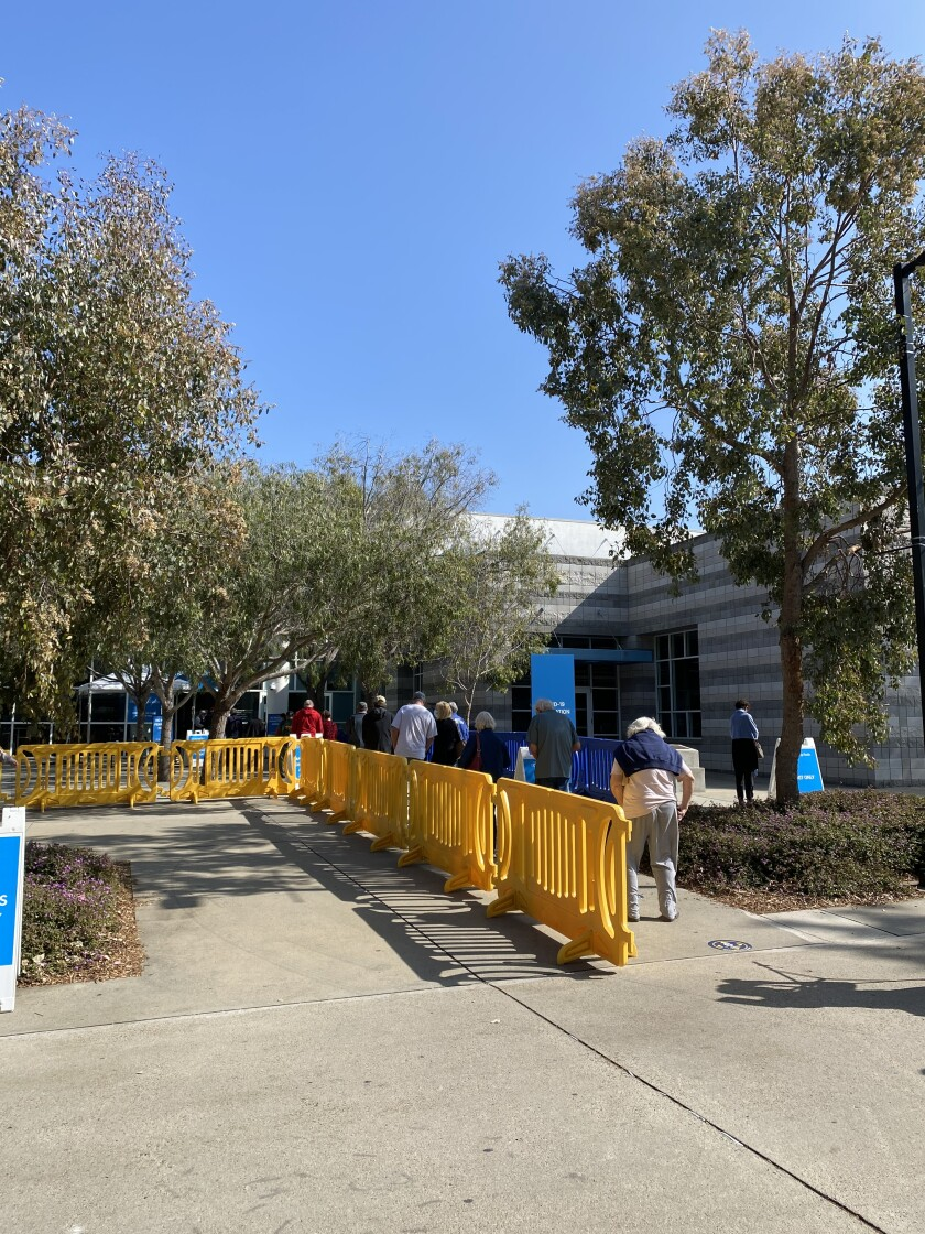 UC San Diego's on-campus vaccination superstation opened Feb. 8.