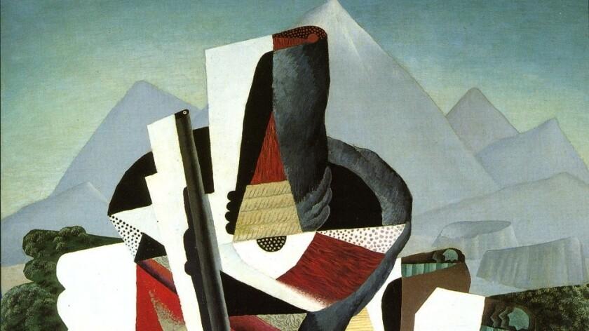 "Diego Rivera, ""Zapatista Landscape (detail),"" 1915, oil on canvas"