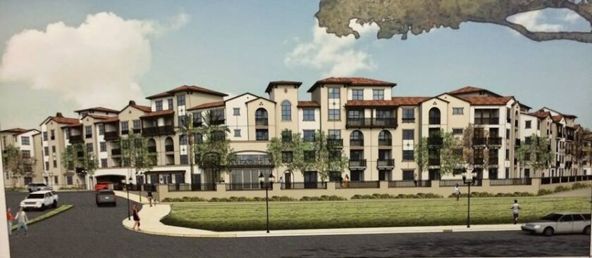 Artist's rendering of the proposed apartments.