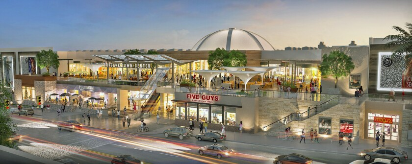 Rendering of revitalized Burbank Town Center