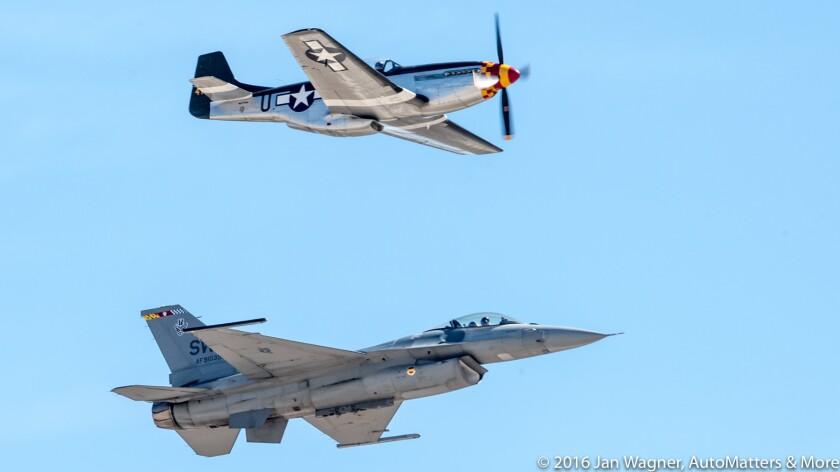 "Air Force ""Heritage Flight"" (F-16 Viper & P-51 Mustang)"