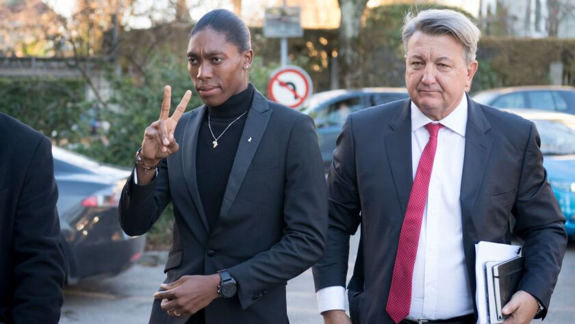 South Africa's runner Caster Semenya hearing in Lausanne, Switzerland - 18 Feb 2019
