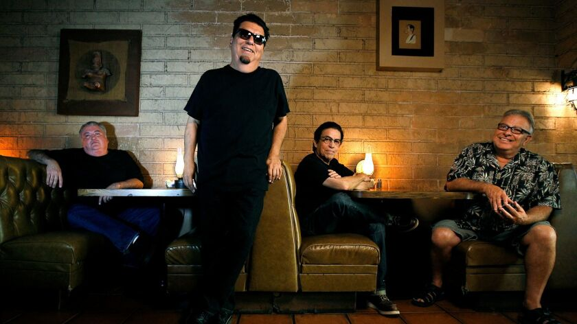 Members of the East L.A. rock group Los Lobos at Lucy's El Adobe Cafe in 2013.