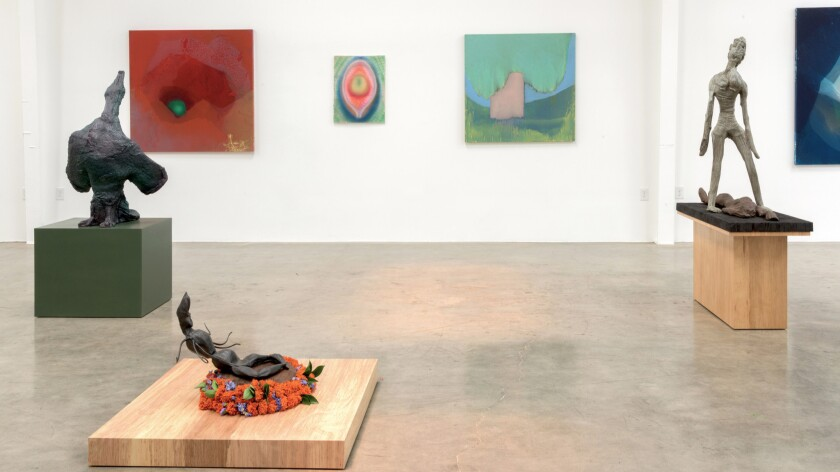 Installation view of the Nancy Evans show at Jason Vass.