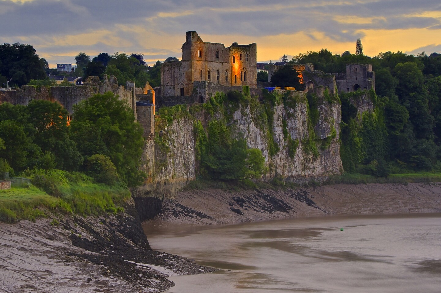 Chepstow Castle was built after William the Conqueror was crowned king of England in 1066.