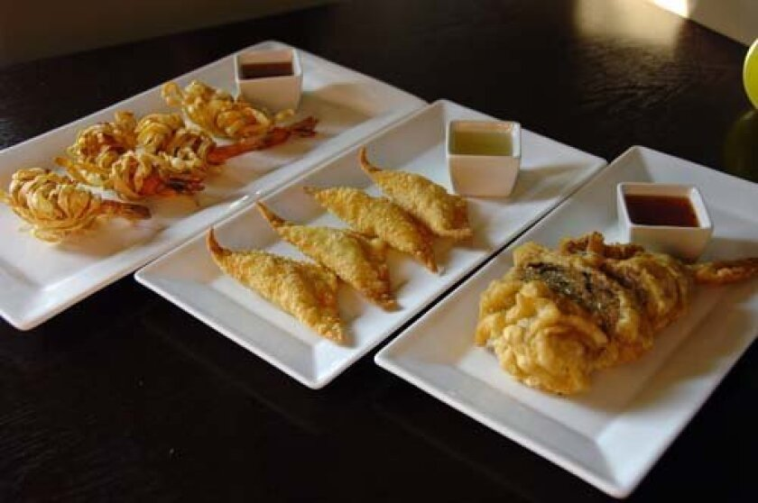 Chedi Thai's new appetizers.