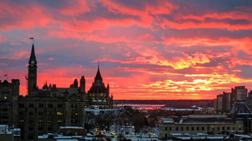 Parliament buildings on Ottawa's skyline. Beautiful city in an underappreciated country?