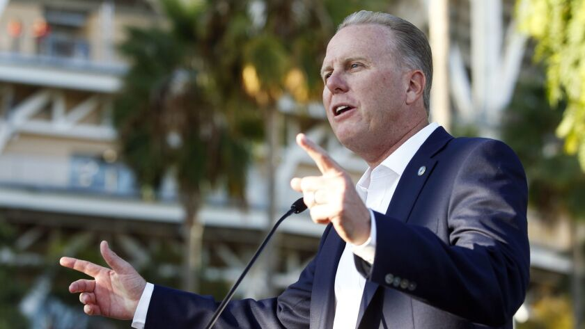 SAN DIEGO, September 28, 2018 | San Diego Mayor Kevin Faulconer speaks during a ceremony for the unv