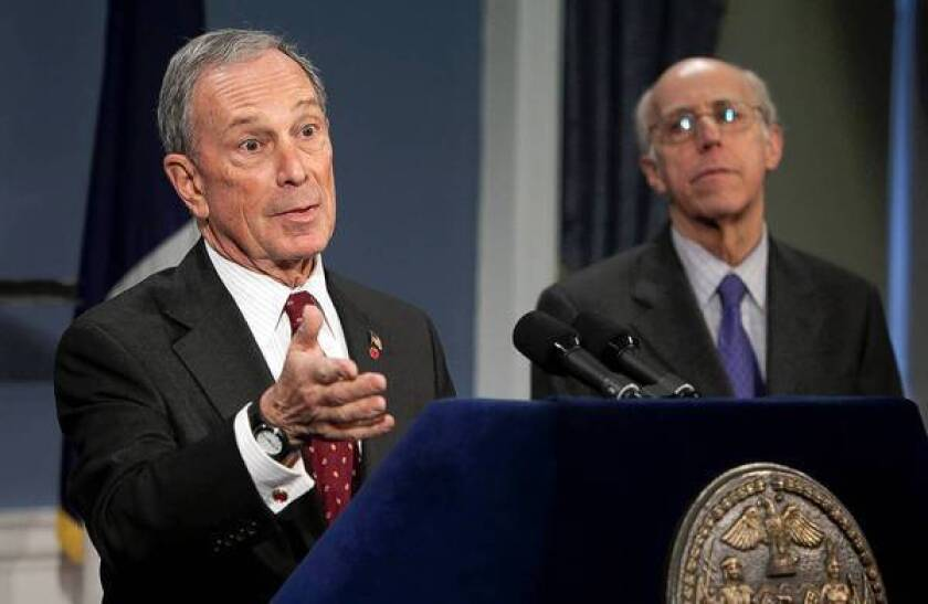 New York Mayor Michael R. Bloomberg says he will appeal a state Supreme Court judge's decision to strike down limits on the sale of large sugary soft drinks in the city.