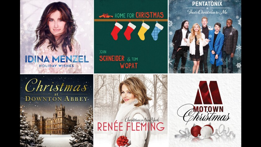 A look at the album covers for some of this year's holiday album releases.